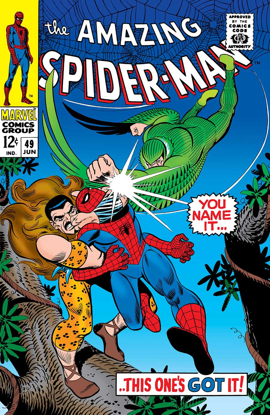 Portadas de cómics Amazing-Spider-Man-49-1967-kraven-vulture-blackie-drago-buitre-resfriado-marvel-comics-1
